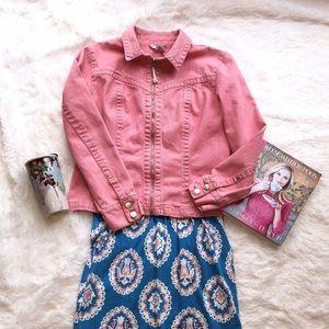 CAbi Denim Pink Jacket Style 254 Size L